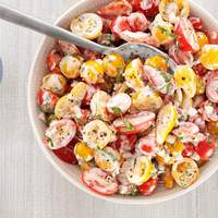 Cherry Tomato Salad With Buttermilk-Basil Dressing Recipe
