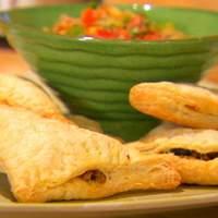 Chicken and Bean Puff Pastry Empanadas Recipe