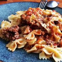 Chicken and Sausage with Bowties Recipe