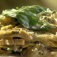 Chicken, Mushroom and Spinach Alfredo Lasagna Recipe