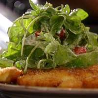 Chicken Paillard with Creamy Parmesan Salad Recipe
