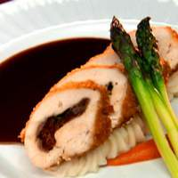 Chicken Roulade Stuffed with Prosciutto, Spinach and Sun-Dried Tomatoes with White Truffle Potatoes Recipe