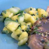 Chicken with Jerk Sauce and Cool Pineapple Salsa Recipe