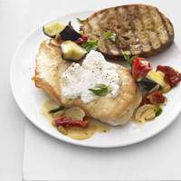 Chicken With Sun-Dried Tomato, Eggplant and Basil Recipe