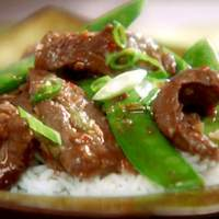 Chili Beef Stir-Fry with Scallions and Snow Peas Recipe