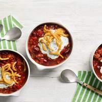 Chili with Ranch Sour Cream Recipe