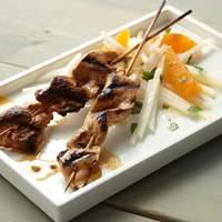 Chipotle Chicken or Shrimp Skewers with Jicama-Orange Salad Recipe
