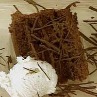 Chocolate, Chocolate Mousse Layer Cake with Vanilla Bean Ice Cream Recipe