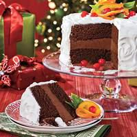Chocolate-Citrus Cake With Candied Oranges Recipe