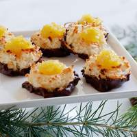 Chocolate Dipped Pineapple-Coconut Macaroons Recipe