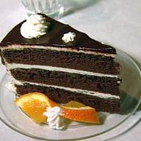 Chocolate Fudge Cake with Vanilla Buttercream Frosting and Chocolate Ganache Glaze Recipe
