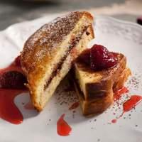 Chocolate Mascarpone Stuffed French Toast with Strawberry Syrup Recipe