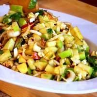 Chopped Apple Salad with Toasted Walnuts, Blue Cheese & Pomegranate Vinaigrette Recipe