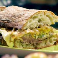 Ciabatta Cheese Steaks with the Works Recipe