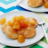 Cinnamon Oatmeal Pancakes with Honey Apple Compote Recipe