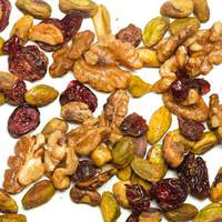 Cinnamon Sugar-Spiced Walnuts and Pistachios with Dried Cranberries Recipe