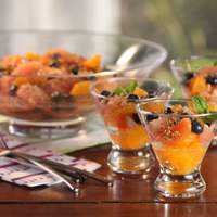 Citrus Blueberry Salad with Almond Relish and Minted Sugar Recipe