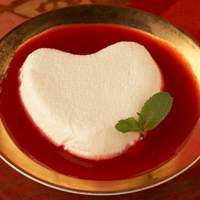 Classic Coeur a la Creme with Raspberry Coulis and Fresh Raspberries Recipe
