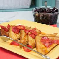 Classic French Toast with Strawberry Syrup Recipe