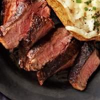 Cocoa-Rubbed Steak With Bacon-Whiskey Gravy Recipe