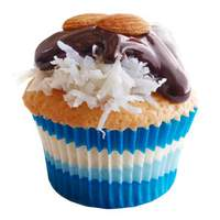 Coconut Cupcakes with Chocolate and Almonds Recipe