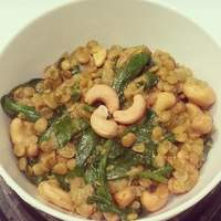 Coconut Red Lentils With Spinach, Cashews & Lime (Vegan) recipe