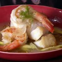 Cod and Shrimp in Fennel and White Wine Broth Recipe