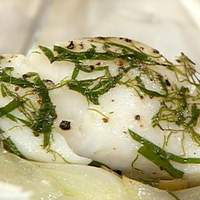 Cod in a Sack with Fennel and Onion Recipe