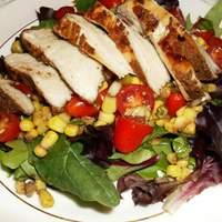Coriander Chicken With Tomato Corn Salad Recipe