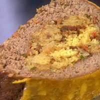 Cornbread Stuffed Meatloaf Recipe