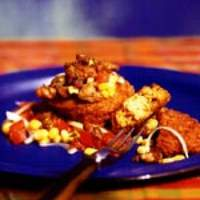 Couscous Fritters with Fresh Corn and Tomato Salsa Recipe