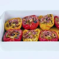 Crab and Prosciutto-Stuffed Peppers Recipe