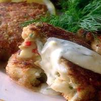 Crab Cakes with Lemon-Dill Sauce Recipe