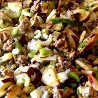 Cranberry, Apple and Sausage Stuffing Recipe