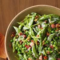 Creamy Spring Peas With Pancetta Recipe