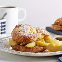 Croissant French Toast with Soft Caramel Apples Recipe