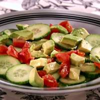 Cucumber-Tomato-Avocado Salad with Tequila-Lime Vinaigrette Recipe