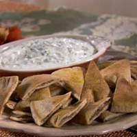Cucumber Yogurt Dip with Pita Chips Recipe