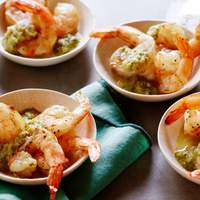 Cumin-Roasted Shrimp with Green Chile Cocktail Sauce Recipe