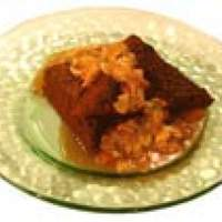 Dark German Chocolate Cake with Toasted Almond-Coconut Goo Recipe