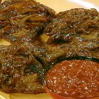 Delmonico Steaks with Balsamic Onions and Steak Sauce Recipe