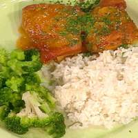 Dijon-Baked Chicken with Rice and Broccoli Recipe