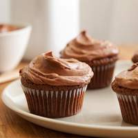 Double Feature Cupcakes with Mexican Hot Chocolate Frosting Recipe