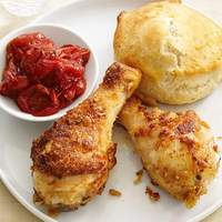 Drumsticks With Biscuits and Tomato Jam Recipe