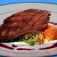 Duck Breast with Apple-Pomegranate Sauce Recipe