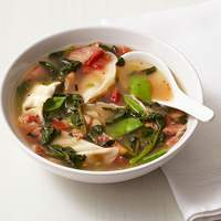 Dumpling Soup With Bacon and Snow Peas Recipe