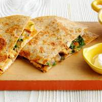 Easy Chicken-Mushroom Quesadillas Recipe