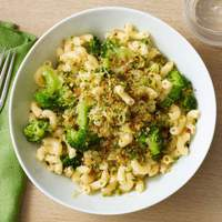Elbow Macaroni with Crispy Breadcrumbs and Broccoli Recipe