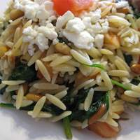 Elegant Orzo with Wilted Spinach and Pine Nuts Recipe