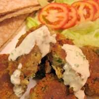 Falafel With Tahini and Cilantro Sauces Recipe